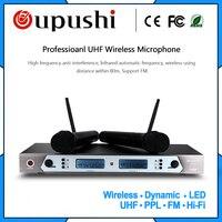 Oupushi HU338 640 мГц профессиональный караоке микрофон Беспроводной Системы портативный беспроводной микрофон Системы Microfono uhf микрофоны