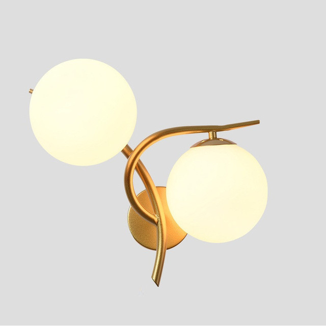 2018 Modern Minimalist Nordic Style Wall Lamp Double Gl Ball Light Indoor Home Fixtures Lighting Bedside Hallway Hotel