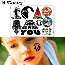 M theory Star Warriors Temporary Makeup 3d Fake Tattoos Sticker Tatouage Henna Tatuagem Body Art 3d
