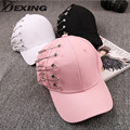 [Dexing]Personality Pin Baseball cap Kpop Women Men Curved Brim Plain Blank Snapback Cap Summder Fishing Trucker Hat