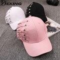 [Dexing] pin personalidad gorra de béisbol mujeres kpop hombres curved brim llanura en blanco snapback cap summder pesca sombrero de camionero