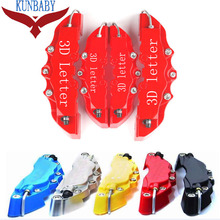 KUNBABY 8 Colors ABS Universal Car Auto 3D Letter Style Disc Brake Caliper Covers Front And Rear Size M+S For Wheel 15''-17''(China)