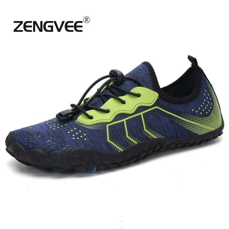 2019 Sommer Männer Atmungsaktive Schuhe Strand Sandalen Erwachsene Hausschuhe Sport Upstream Schuhe Männer Tauchen Socken Tenis Masculino Große Größe 46