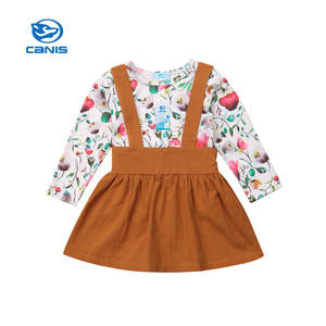 CANIS Dress Outfits-Clothes Bodysuit Skirts Bebe Baby-Girl Infant Toddler Kids 2pcs Bib