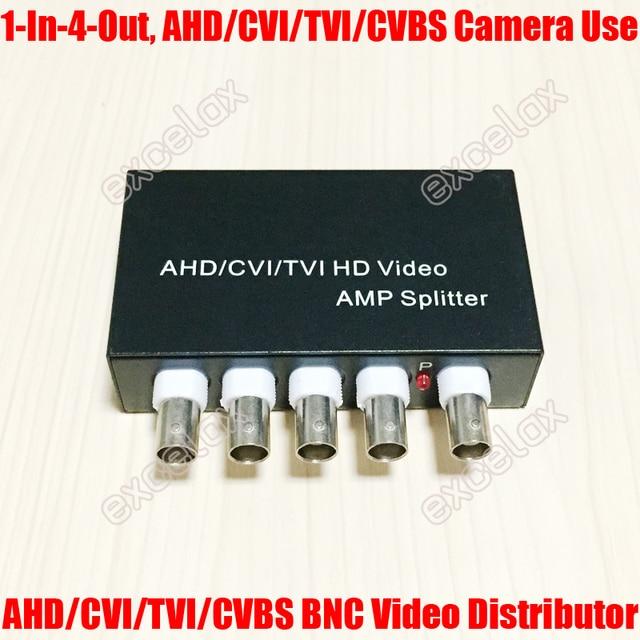 MINI 1 ใน 4 OUT 5MP 4MP 3MP 2MP AHD CVI TVI CVBS BNCผู้จัดจำหน่ายวิดีโอAMP SplitterสำหรับCoaxial analog HDกล้องวงจรปิดความปลอดภัยกล้อง