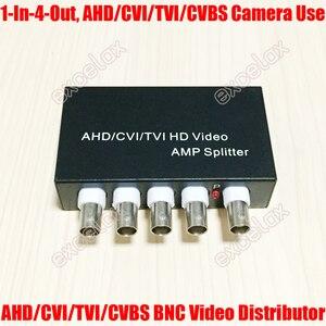 Image 1 - Mini 1 في 4 خارج 5MP 4MP 3MP 2MP AHD CVI TVI CVBS فيديو بي ان سي الموزع أمبير الخائن ل محوري التناظرية HD CCTV الأمن كاميرا