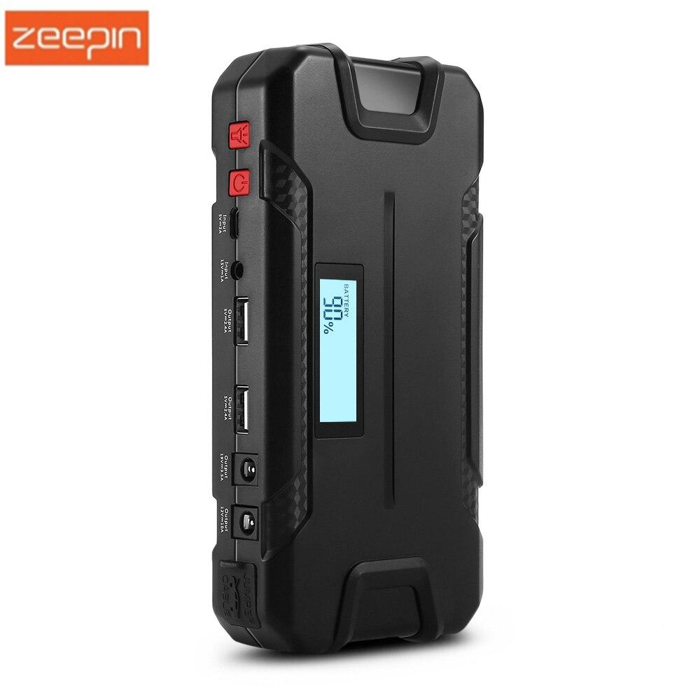 ZEEPIN 12000 mAh démarreur de saut de voiture 12 V chargeur portatif de secours chargeur de voiture pour les appareils de pompe à Air de réfrigérateur de voiture