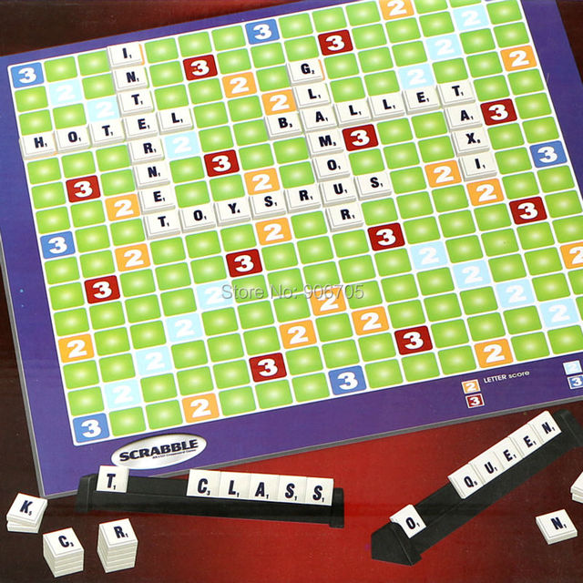 Family Funny Scrabble Alphabet Game English Crossword Spelling For 2 4 Players Educational Toys