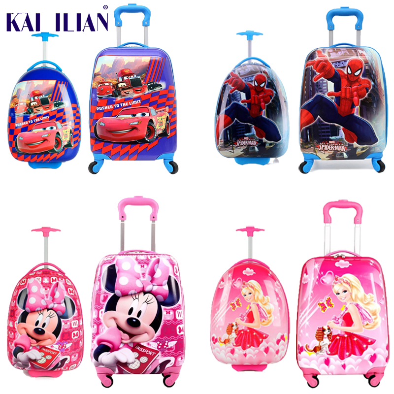 New Childrens Hardside Luggage Cartoon Suitcase Boy Boarding Rolling Luggage Student ABS trolley luggage for kids Wheeled BagNew Childrens Hardside Luggage Cartoon Suitcase Boy Boarding Rolling Luggage Student ABS trolley luggage for kids Wheeled Bag