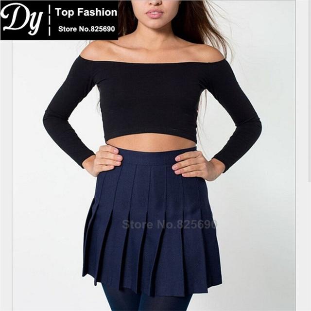 2017 summer in Europe and America nifty new Slim thin waist pleated women's skirt