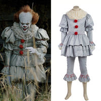 Stephen King S It Pennywise Cosplay Costume Adult Unisex Clown Costume Custom Made Suit