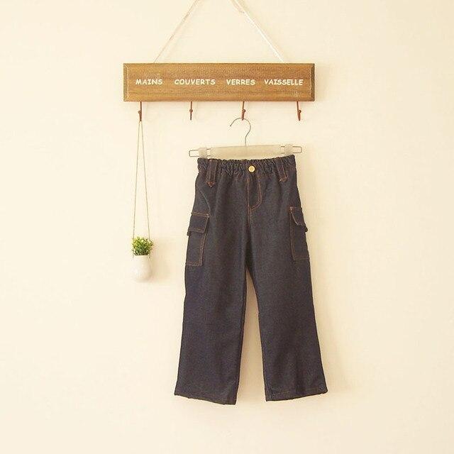 БК-51, дети джинсы, джинсовые + коралловый флис двойной слой толщиной джинсовые брюки.