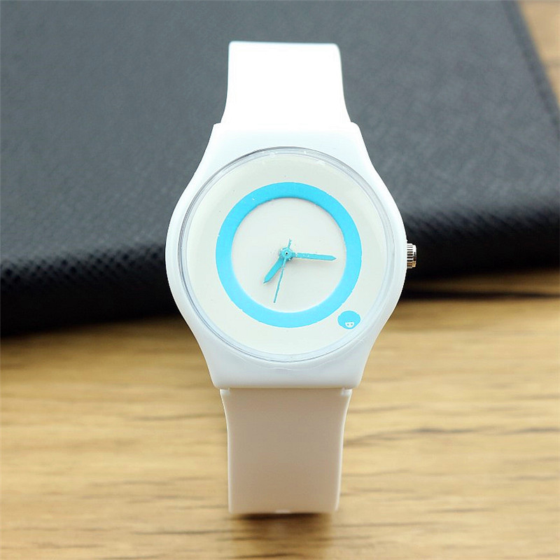 High Quality Unisex Small Fresh And Ultra Thin And Light Casual Quartz Watch Student Lovely Dial Silicone Waterproof Watch