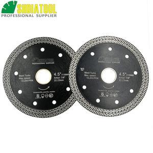 Image 2 - SHDIATOOL 2 piezas diamante prensado en caliente sinterizado disco de corte de malla de baldosa Turbo hoja de mármol Rueda de corte Sierra de múltiples materiales hoja