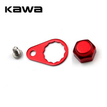 KAWA Crank Nut and Screw and Plate for fishing reel, Left Handle and Right hand Screw Cap for Daiwa  ABU Reel