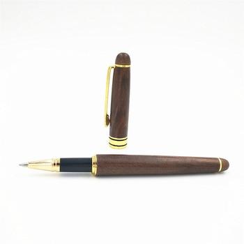 Fatti A Mano Di Lusso Di Legno Di Noce Penna Stilografica Scrittura Pompa Penna Firma Penna Set Per Bussiness E La Scuola Come Regali