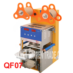 QF07 220V/110v  Digital Automatic Cup Sealing Machine  Of Tea estate bubble for drinking  stainless steel Material