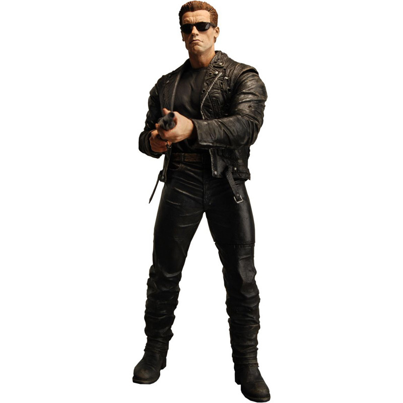 The Terminator 2 718cm NECA  ASchwarzenegger generation T800 single gun version Escape PVC Figure Toy Christmas Free Shipping neca the terminator 2 action figure t 800 endoskeleton classic figure toy 718cm 7styles