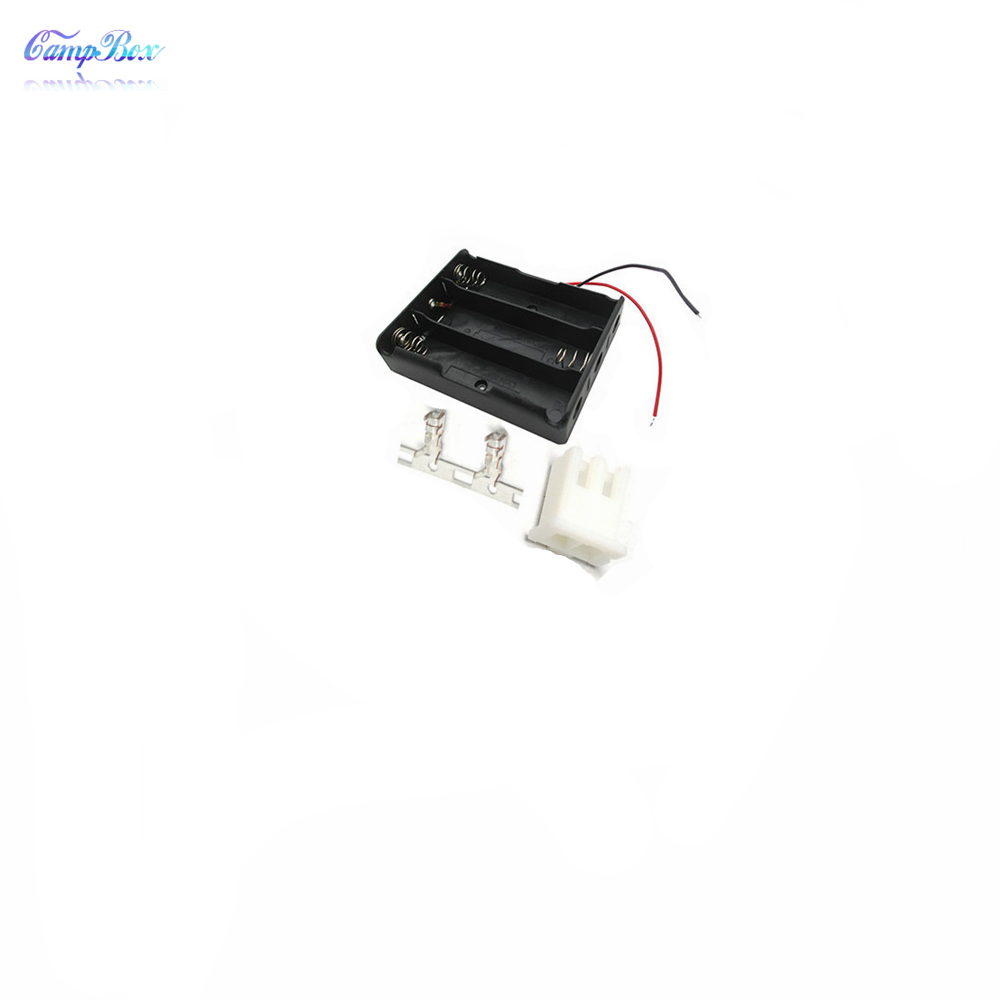 50Pcs 3x18650 Battery Case Holder Socket Wire Junction Box With 15cm Wires XH 2 54 Header