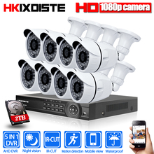 HD-TVI 8CH 1080P 2.0MP Security Cameras System 8*1080P 3000TVL Day Night Vision CCTV Home Security 1TB HDD or 2TB HDD