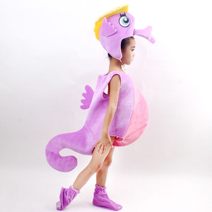 Image 2 - Children kid blue purple orange hippocampus sea horse costume Halloween party cosplay animal costume clothes for boy girl