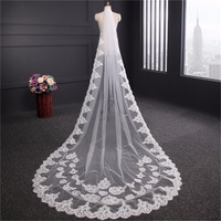 ZYLLGF Veil Wedding Lace Edge Veils Cathedral One Layer Long Veil Wedding With Com Bridal Accessories BL8