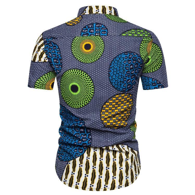 Hawaiian Shirt Men Summer S 2XL Casual Men 39 s shirts National style Blouse Men Hip hop Short sleeve in Casual Shirts from Men 39 s Clothing