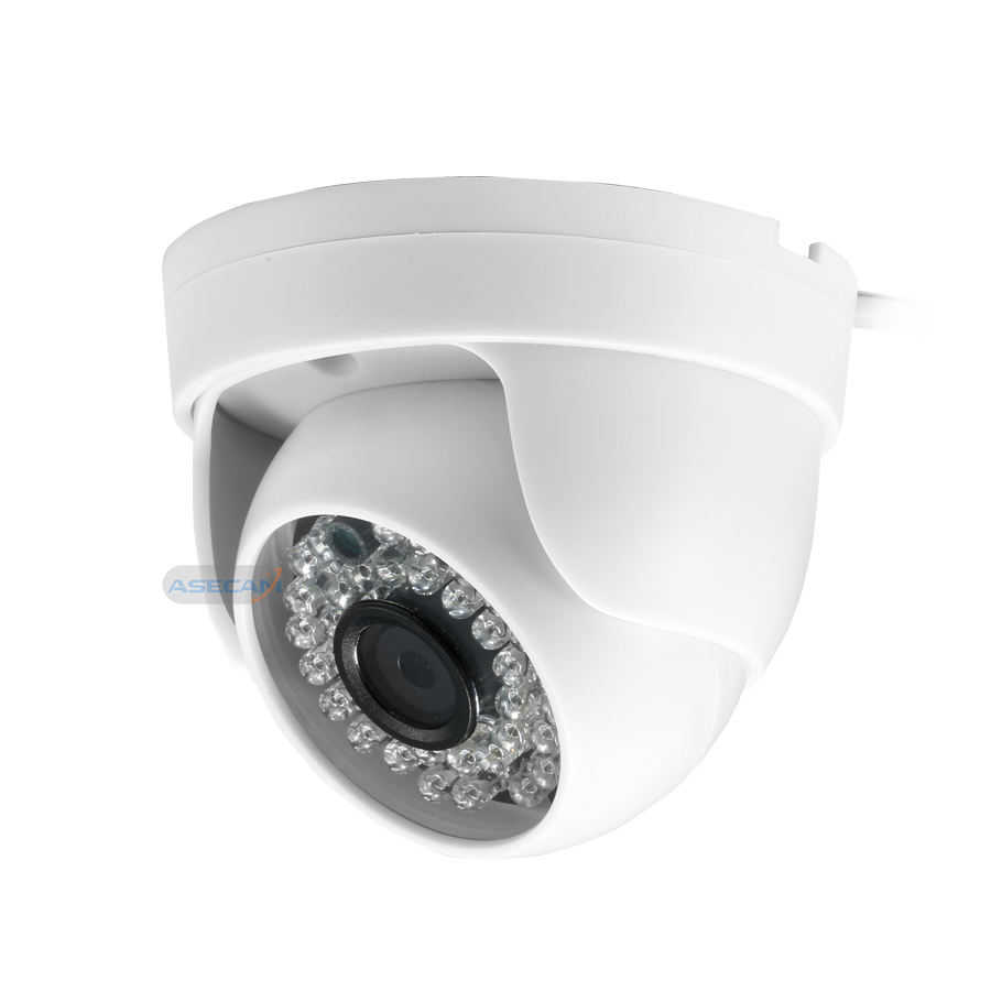New Home Super 4MP HD AHD Camera Security CCTV White Mini Dome 36LED infrared Night Vision Surveillance Camera System in Surveillance Cameras from Security Protection