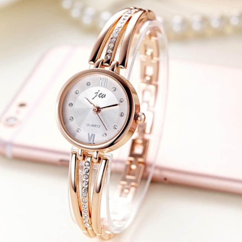 New Fashion Rhinestone Watches Women Luxury Brand Stainless Steel Bracelet Watches Ladies Quartz Dress Watches Clock 825