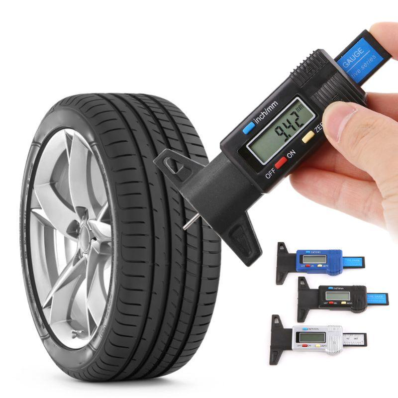 Silver-Line Tyre Depth Thread Gauge Tyre Pressure Depth Gauges Tires Plastic
