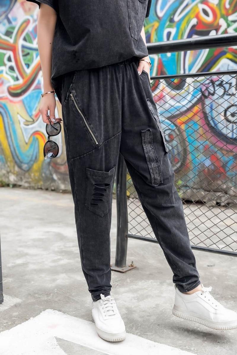 fashion punk rock harem pants women pantalon femme casual. Black Bedroom Furniture Sets. Home Design Ideas