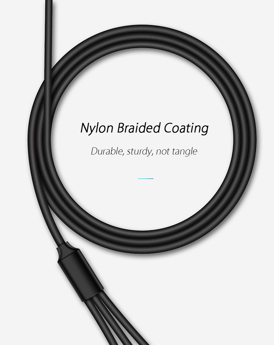 3 In 1 Multi USB Charger Cable for Xiaomi mi 9 se Samsung Galaxy A30 A50 M30 Micro USB Type C Cord Mobile Phone Charging Cabel