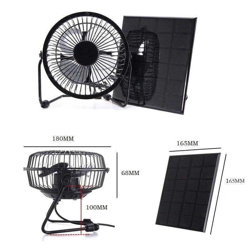 4 5 w 6 v painel movido a energia solar ventilador de ferro para escritorio em