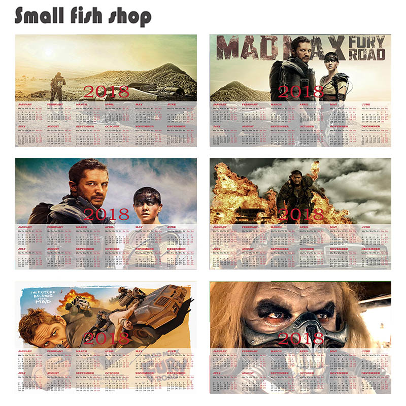 Mad Max Fury Road B 2018 calendar poster Home Furnishing decorative white coated paper Wall Sticker Home Decora