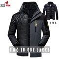 Мужская Повседневная куртка Теплая Зимняя Куртка Мужчины/женщины Пальто Толщиной Куртка Мужчины и пиджаки марка Одежды размер 5XL, 6XL куртка мужчины пальто