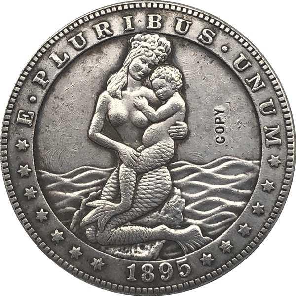 Hobo Nikkel VS Morgan Dollar 1895 COIN COPY Type 87