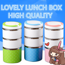 Fashion Lunch Box Bento Thermos Flask Heated Container for Food Stainless Steel Table Ware Storage Lunch