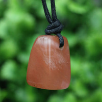 Dropship Irregular Designer Natural Red Aventurine Stone Pendant Necklace Wire Wraped Women Fashion Birthstone Jewelry B007