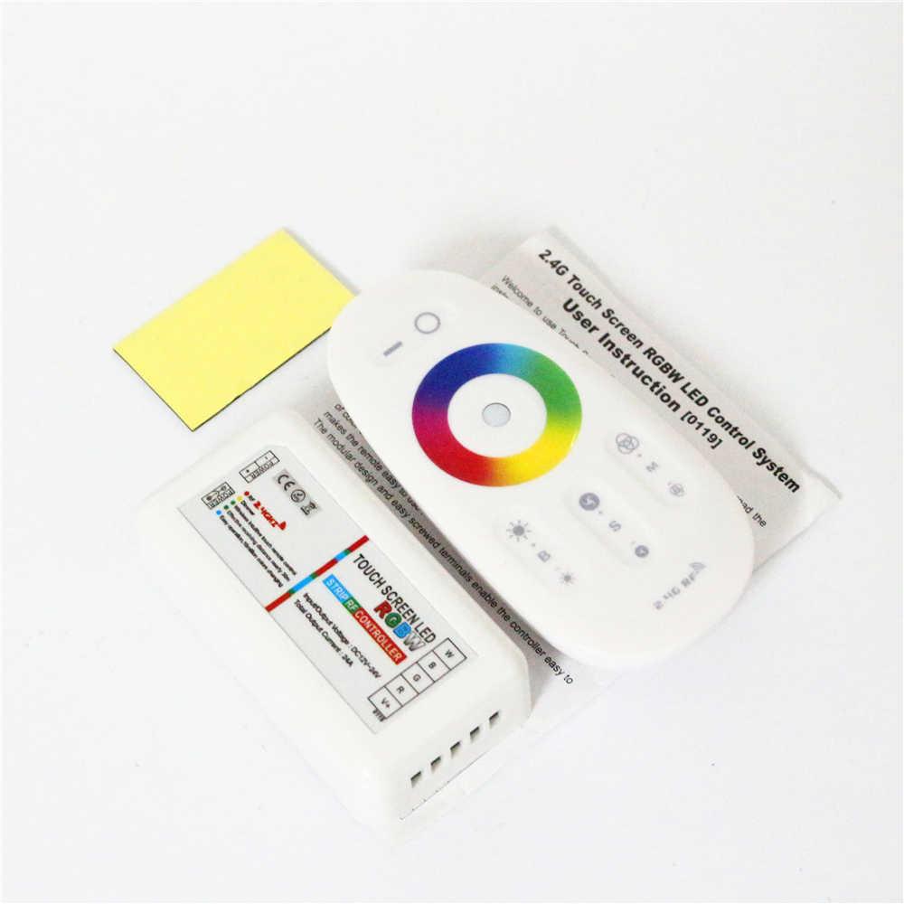 12-24 V 5050 3528 RGB + blanc/chaud bande LED blanche connecteur RGBW contrôleur + 2.4G sans fil RF écran tactile RGBW télécommande