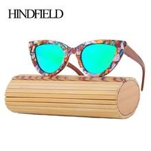 HINDFIELD, кошачий глаз, солнцезащитные очки для женщин, высокое качество, Роскошные, ручная работа, бамбук, дерево, солнцезащитные очки для женщин, oculos de sol feminino
