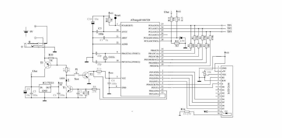 diy kits digital combo transistor tester lcr diode capacitance inductance esr meter    pwm signal
