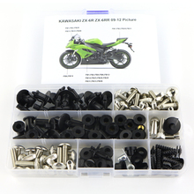 цены For Kawasaki ZX6R ZX-6R ZX6RR ZX-6RR 2009 2010 2011 2012 Motorcycle Full Fairing Bolts Kit Fairing Clips Screws Steel