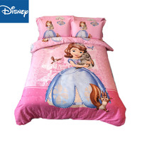 Disney king size bedding set for girls bed decor double quilt covers full bedspread flat sheet 4pcs birthday gift promotion pink