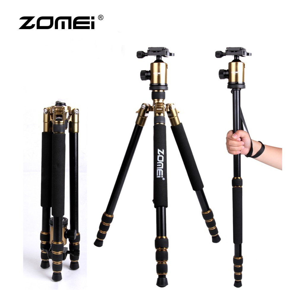 Z888 Zomei Portable Stable Magnesium Alloy Digital Camera Tripod Monopod Ball Head For Digital SLR DSLR Camera z888 zomei portable stable magnesium alloy digital camera tripod monopod ball head for digital slr dslr camera