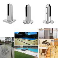 8pc/set Stainless steel Duplex 2205 Glass Clamps Railing Spigot Fits for Garden Pool Balustrade