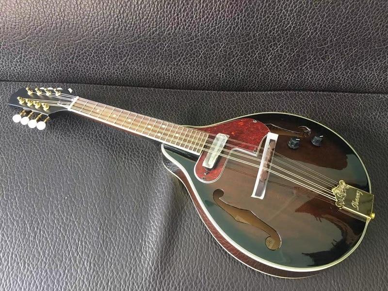 Instrument de musique Paulowni Sunburst à 8 cordes avec mandoline électrique rigide