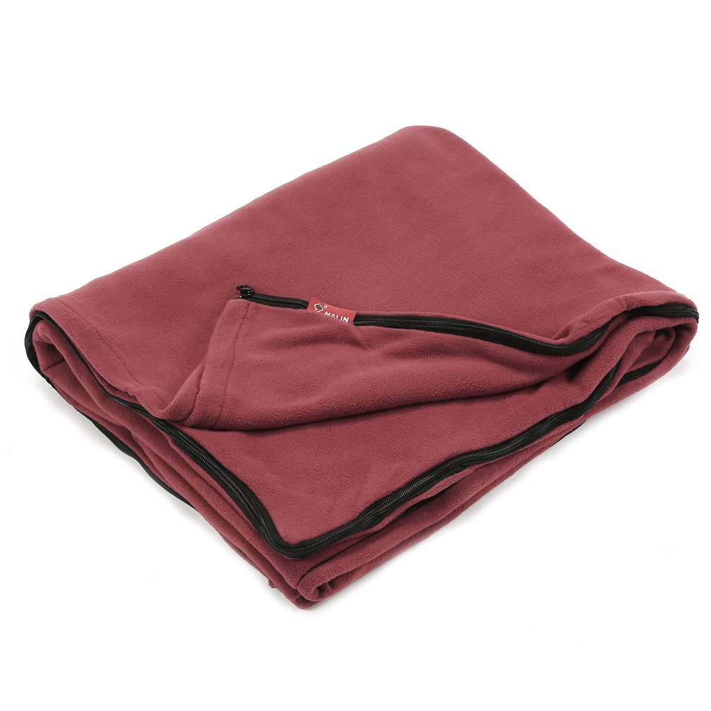 Us 15 82 5 Off Dual Sides Fleece Sleeping Bag Warm Ultralight Liner For Outdoor Camping Travel In Bags From