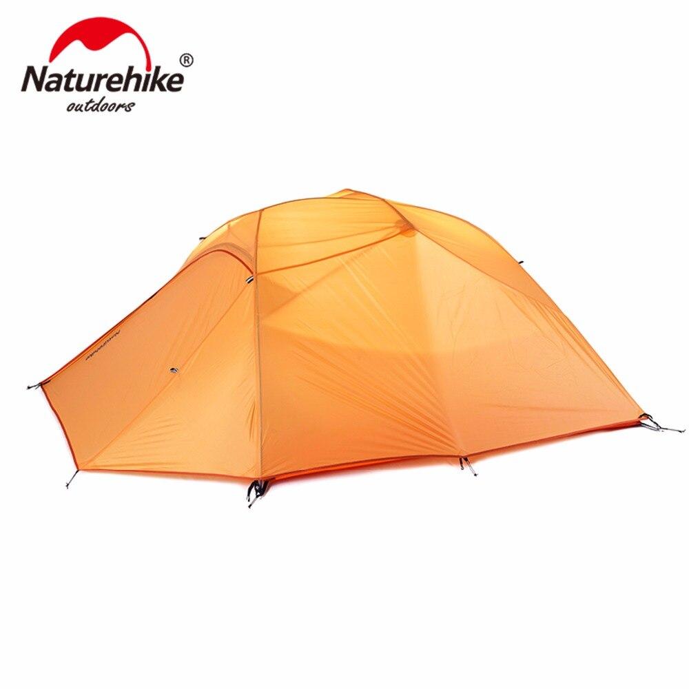 Nature randonnée tente extérieure 3-4 personne 210 T/20D tissu Silicone Double couche Camping tente ultra-légère touristique tente 4 saisons