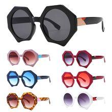 Fashion Women Retro Polygonal Frame Eyeglasses UV Protection Spectacles Eyewear Versatile Sunglasses