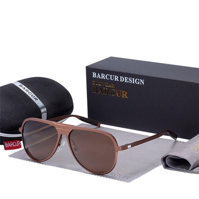 8ffd65d49b BARCUR Unisex Aluminum Magnesium Male Sunglasses HD Polarized Trending  Styles Black Sun glasses Women Men glasses